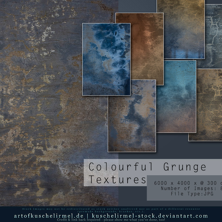 Colourful Grunge Textures Cover